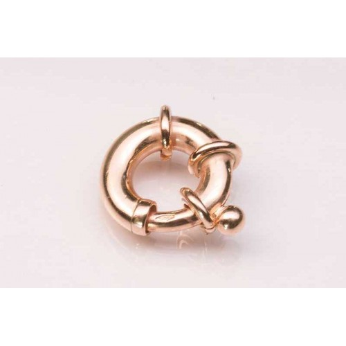9K Rose Bolt Ring Jumbo Plain