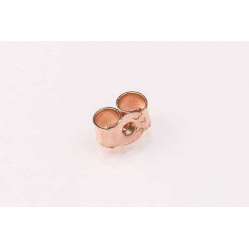 9K Rose Scroll Large Medium Weight (pair)