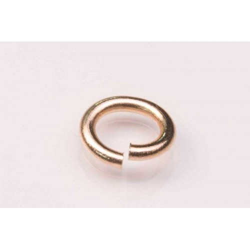9K Yellow Jump Ring Oval